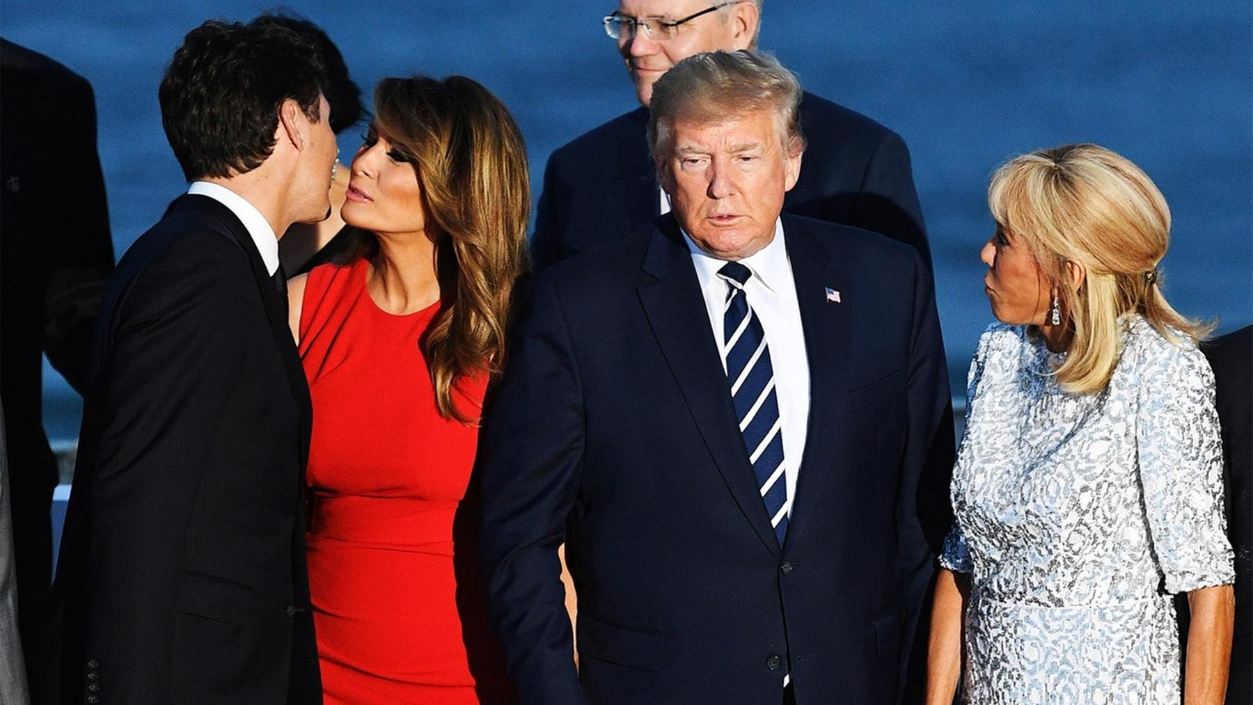 Melania Trump Looks Like She Is About To Risk It All In Viral Picture With Justin Trudeau -- The Donald And Ivanka Will Not Like This