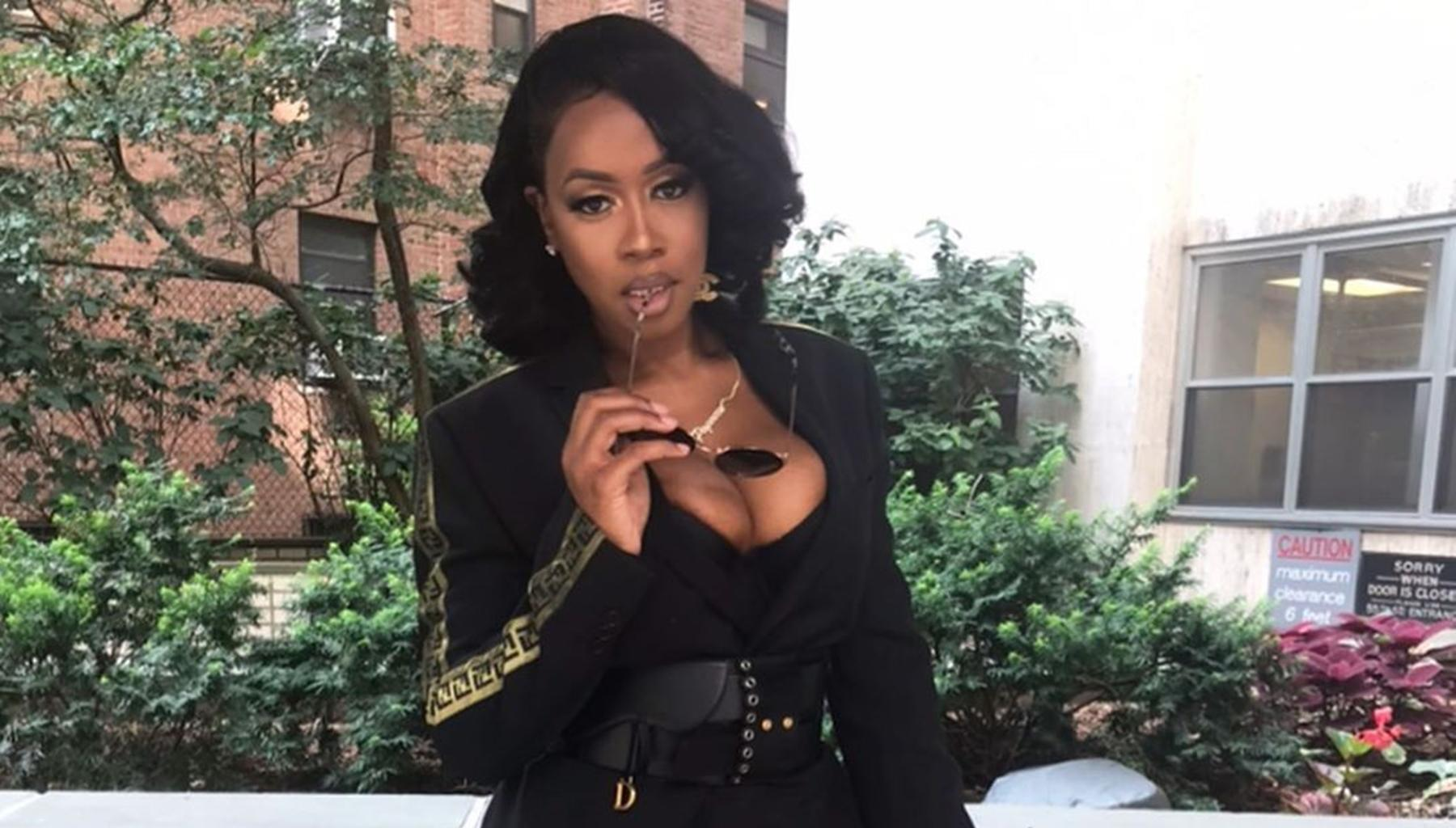 Remy Ma Stuns In Newspaper Dress Picture; Husband Paposee Read Every Word Printed On Her Killer And Natural Curves