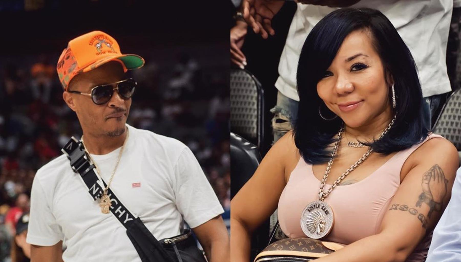T.I. Looks Ready For Trouble Over Wife Tiny Harris's Revealing Dress In New Video -- Xscape Diva Seems Good To Go Too