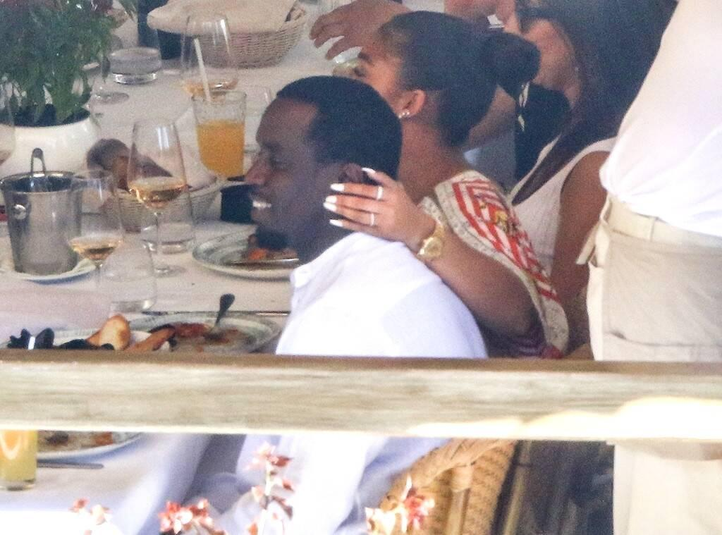 Diddy Goes On Vacation With Rumored Girlfriend Lori And Her Dad, Steve Harvey - Pics!