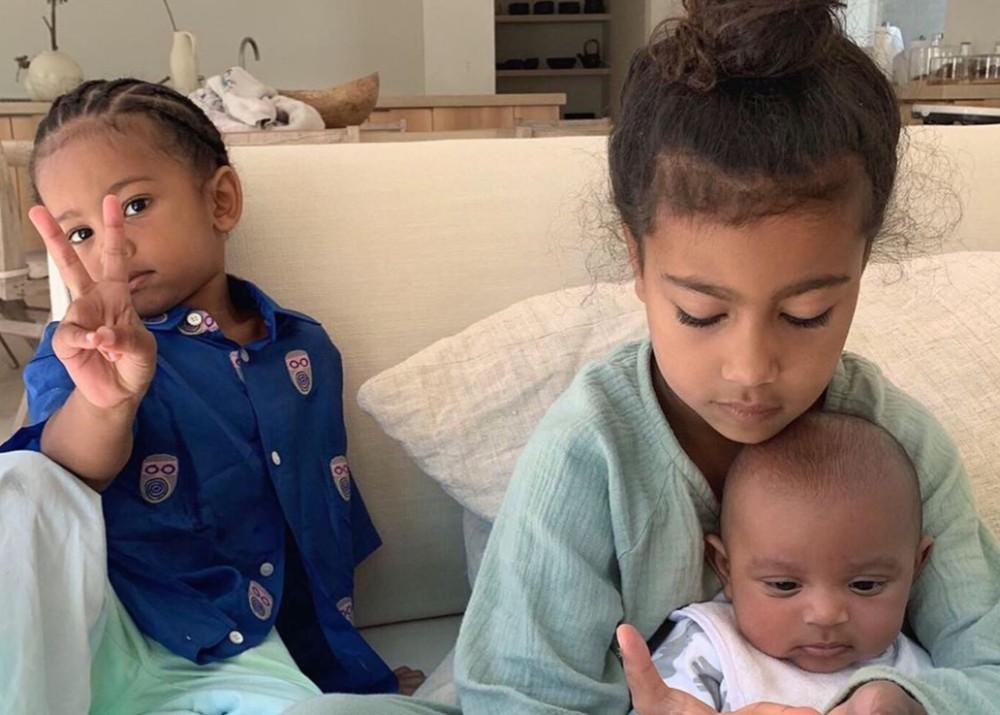 New Photos of North, Saint, And Psalm West Go Viral — Kim Kardashian's Kids Can Throw Some Mean Looks