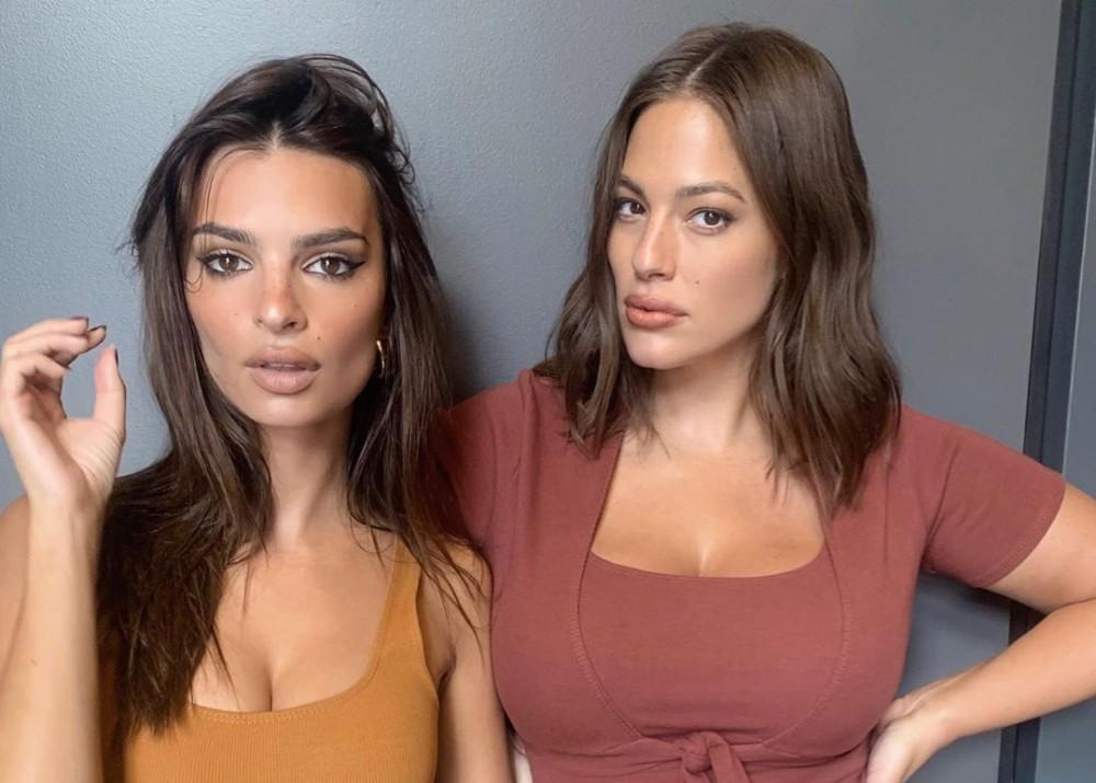 Ashley Graham Continues To Love Her Changing Pregnancy Body As She Poses With Emily Ratajkowski In Inamorata Woman