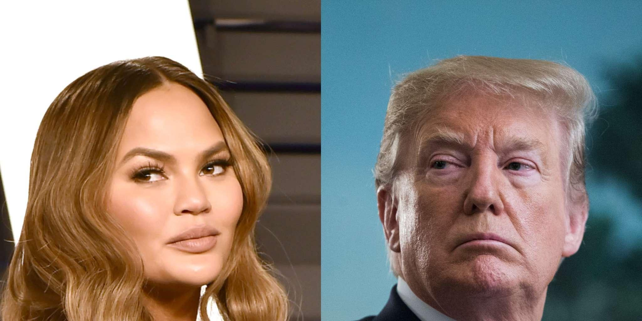 Chrissy Teigen Disses Donald Trump Even More - Says She Doesn't Care The President Dislikes Her