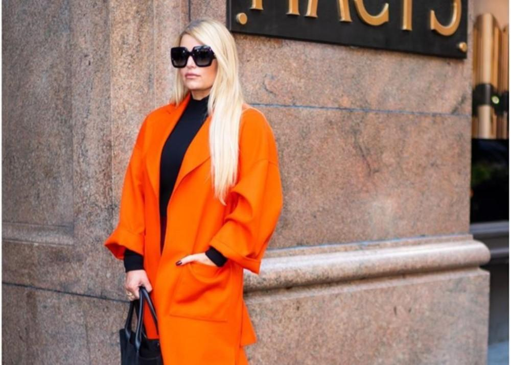 Jessica Simpson Stuns In Orange After Amazing Weight Loss