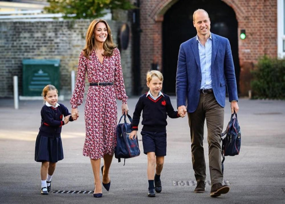 Princess Charlotte Is Darling Accompanying Kate Middleton, Prince William And Prince George On Her First Day Of School