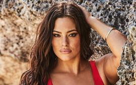 Ashley Graham Shows Off Baby Bump In New Two-Piece Bathing Suit Photos