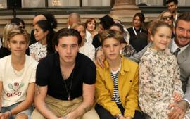 David Beckham Posts Some Adorable Pictures Of His And Victoria's Kids Supporting Her At A Fashion Show