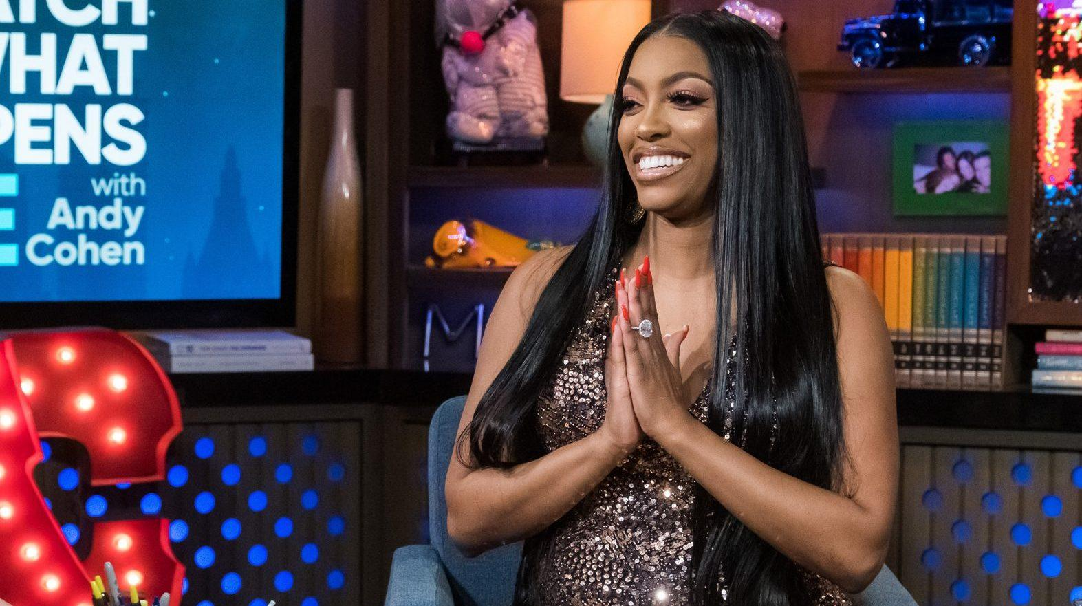 Porsha Williams Looks Amazing In A Yellow Dress At Eva Marcille's Baby Shower