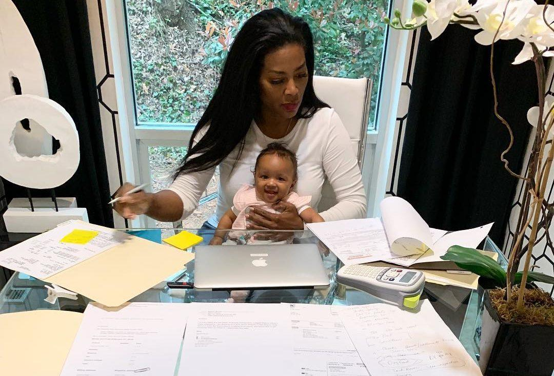 Kenya Moore's Latest Photo Of Baby Brooklyn Has Fans In Awe