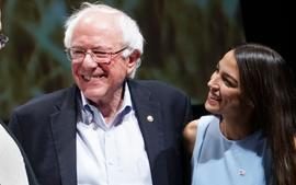 Bernie Sanders Receives The Most Sought-After Endorsement --  A Real Gift From Alexandria Ocasio-Cortez While He Was In The Hospital After A Heart Attack