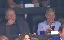 Ellen DeGeneres Sat Next To George W. Bush At The Cowboys Game And The Internet Can't Handle It