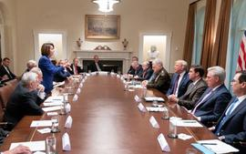 Donald Trump Posts Photos From Meeting With Nancy Pelosi Claiming She Had A Meltdown After He Bashed Barack Obama