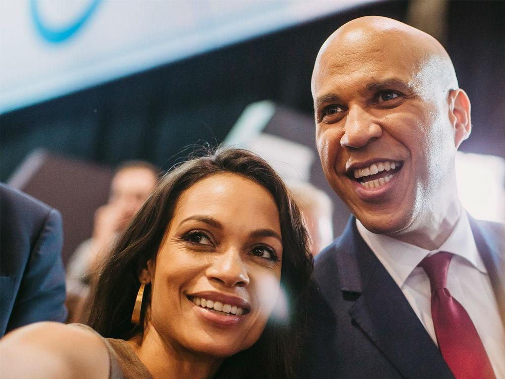 Rosario Dawson Gushes Over Boyfriend Cory Booker - Are Wedding Bells In Their Future?