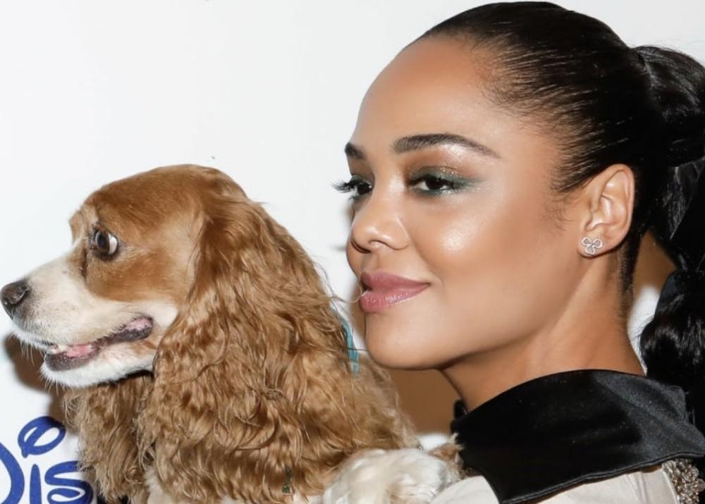 Tessa Thompson Is Stunning With Pooches And Peplum At Manhattan Screening Of Disney's Streaming-Only Lady And The Tramp