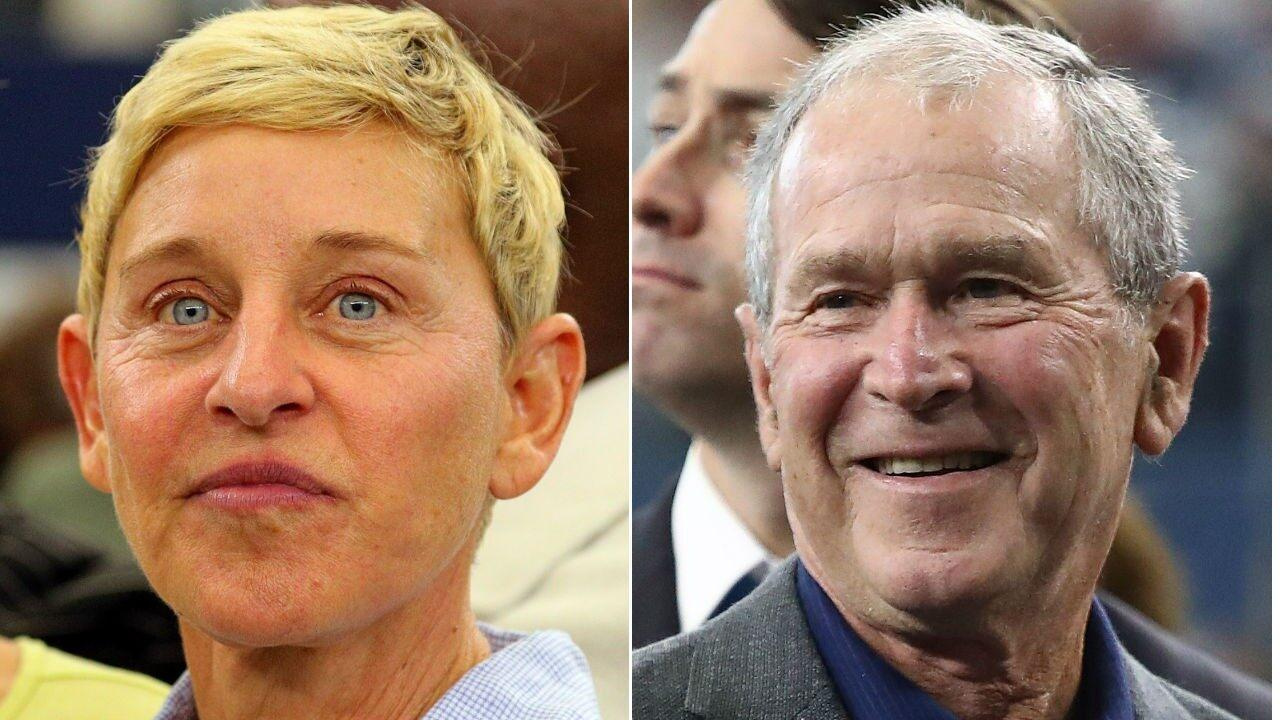 Ellen DeGeneres Opens Up About The Backlash She Got Over That Viral Pic Of Her And George W. Bush Being Friendly At An NFL Game