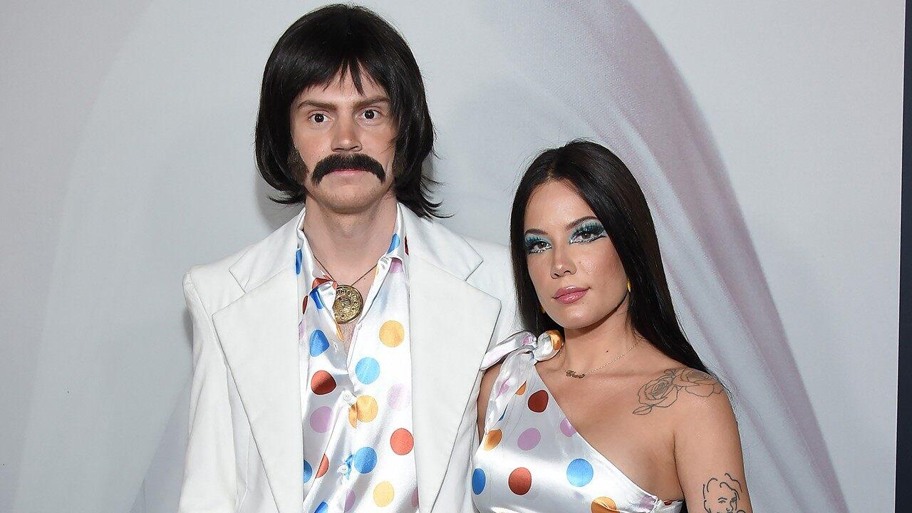 Evan Peters And Halsey Make Their Romance Red Carpet Official In Sonny And Cher Costumes At The AHS 100th Episode Celebration