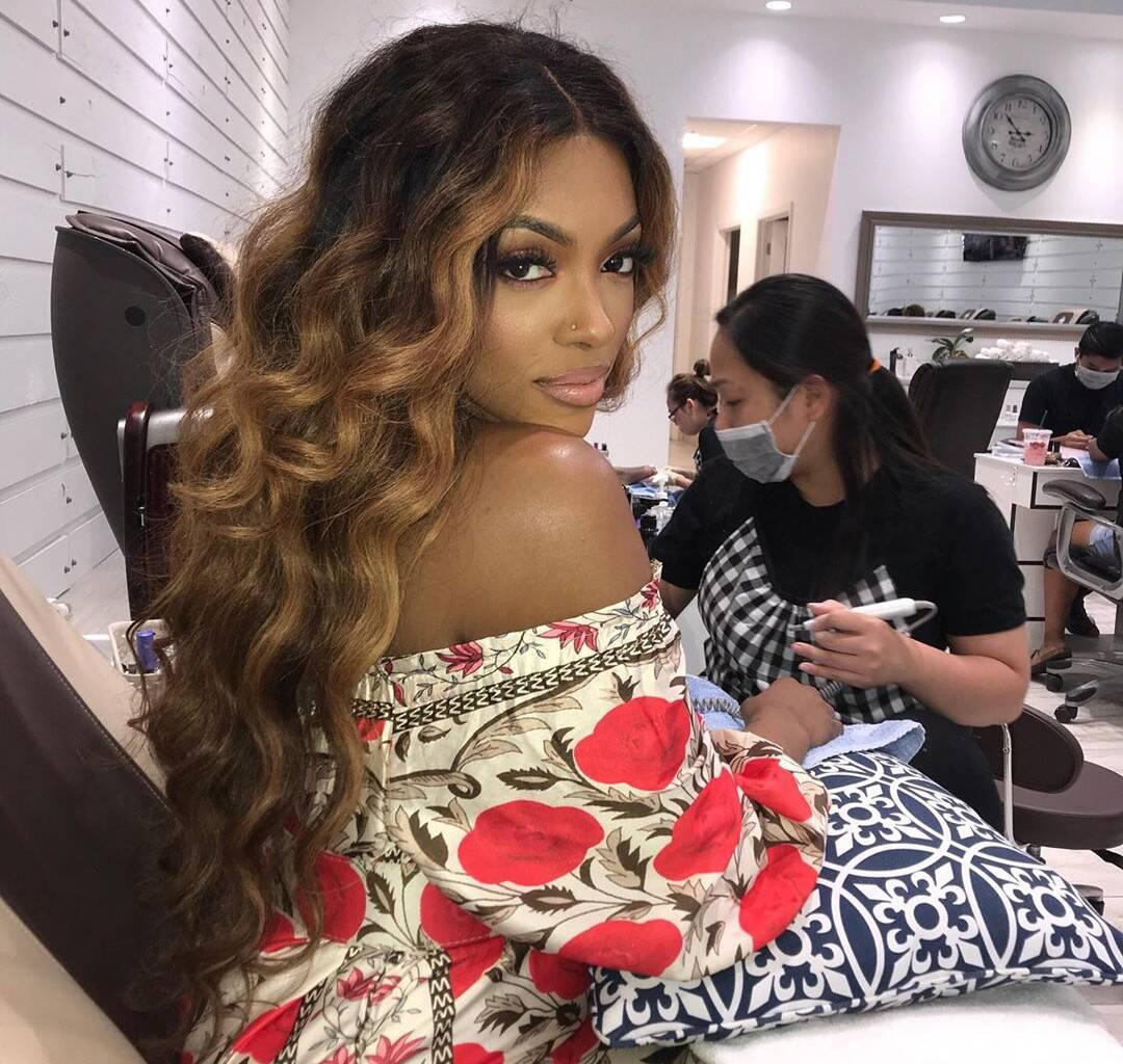 Porsha Williams Shares A Photo Featuring Baby Pilar Jhena Falling Asleep In Her Grandma's Arms