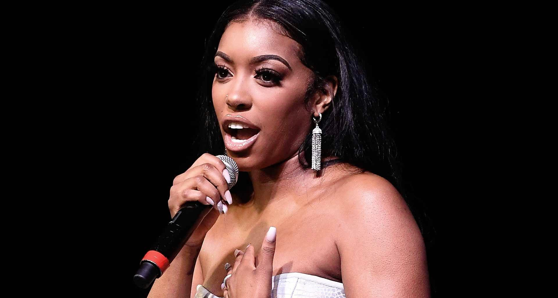 Porsha Williams' Fans Tell Her That She's Gorgeous Even Hopping Around In One Foot