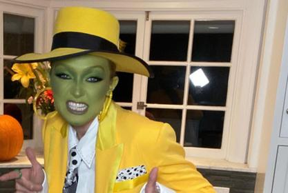 Gigi Hadid Went As Jim Carrey's The Mask For Halloween And The Look Was Awesome — Patrick Ta Makes Magic Once Again