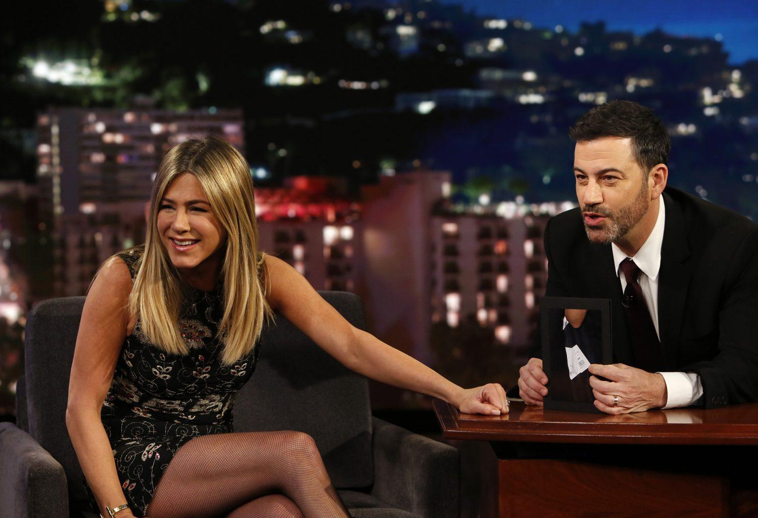 Jennifer Aniston Plays Joke On Jimmy Kimmel After He Asks Her Not To Serve Turkey At Her Thanksgiving Party - Check Out His Priceless Reaction!