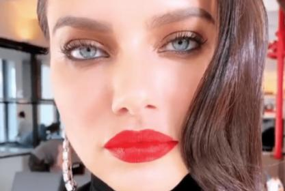 Adriana Lima Gets Glammed Up For The Holidays In New Maybelline Makeup Tutorial — Watch Video