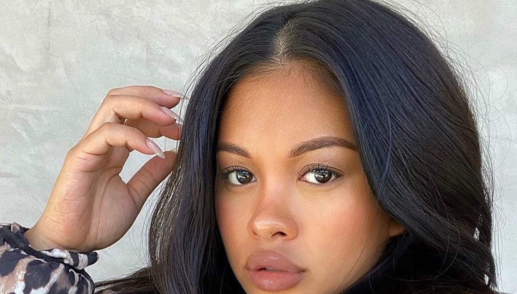Chris Brown's Baby Mama, Ammika Harris, Lands In Trouble For Posting This Sizzling Photo Where She Leaves Nothing To The Imagination After Giving Birth