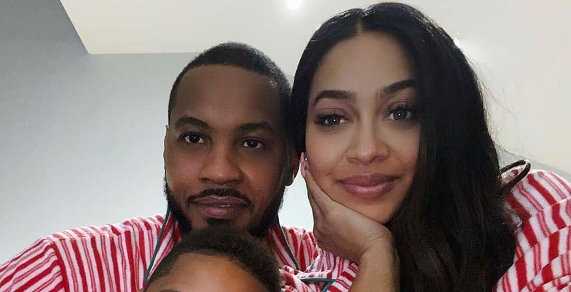 La La Anthony Reunites With Husband Carmelo Anthony And Pranks Her Son In Hilarious Video Where Kiyan Says He Is The Boss