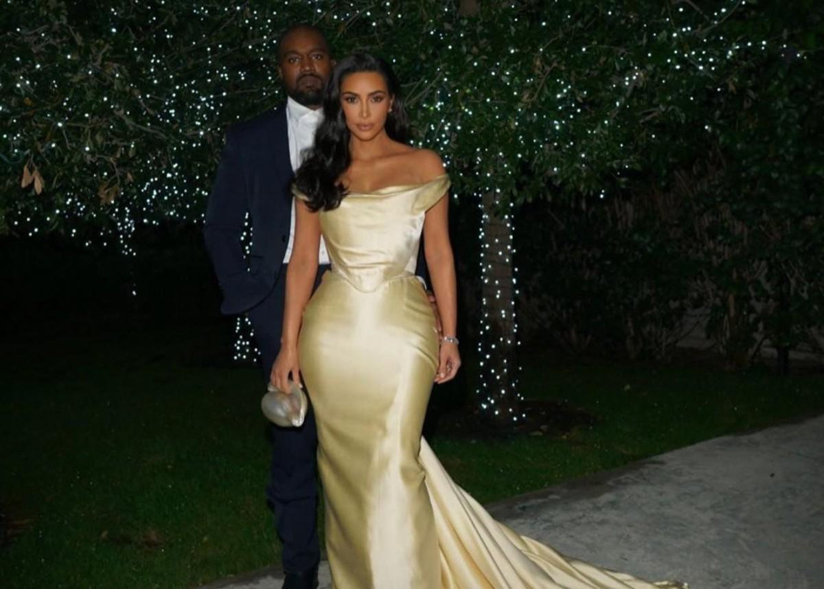 Kim Kardashian Shares Elegant Photos Of Herself And Kanye West At Diddy's 50th Birthday Party