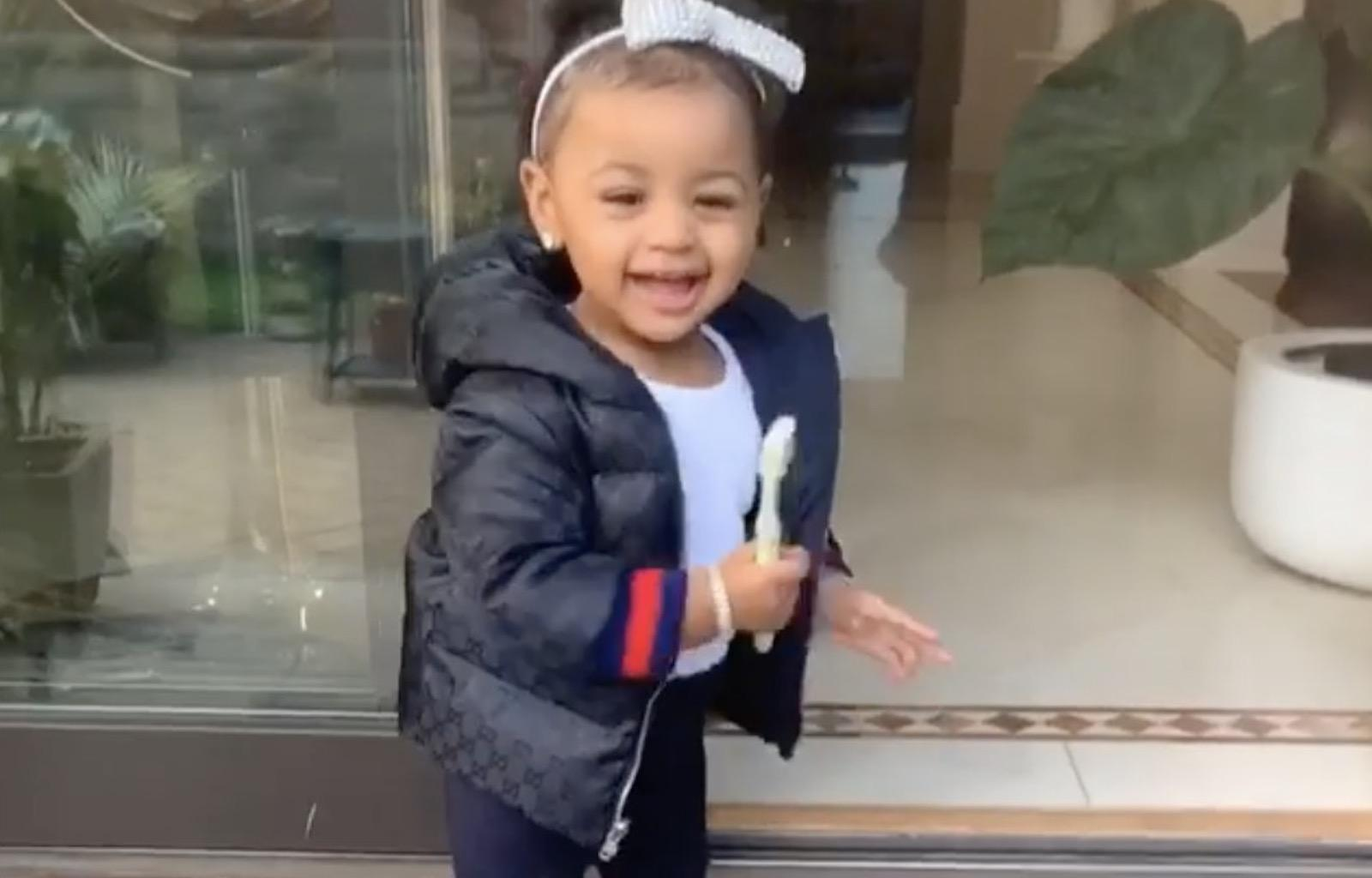 Cardi B's Daughter Kulture Shows Off Her Singing And Dancing In New Adorable Clip With Her Auntie!