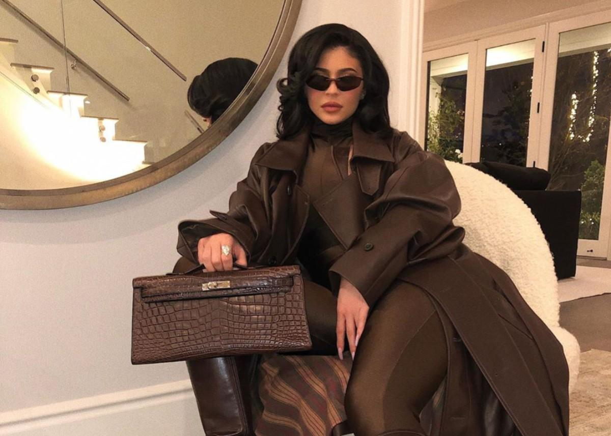 Kylie Jenner Stuns In Chocolate-Brown Outfit