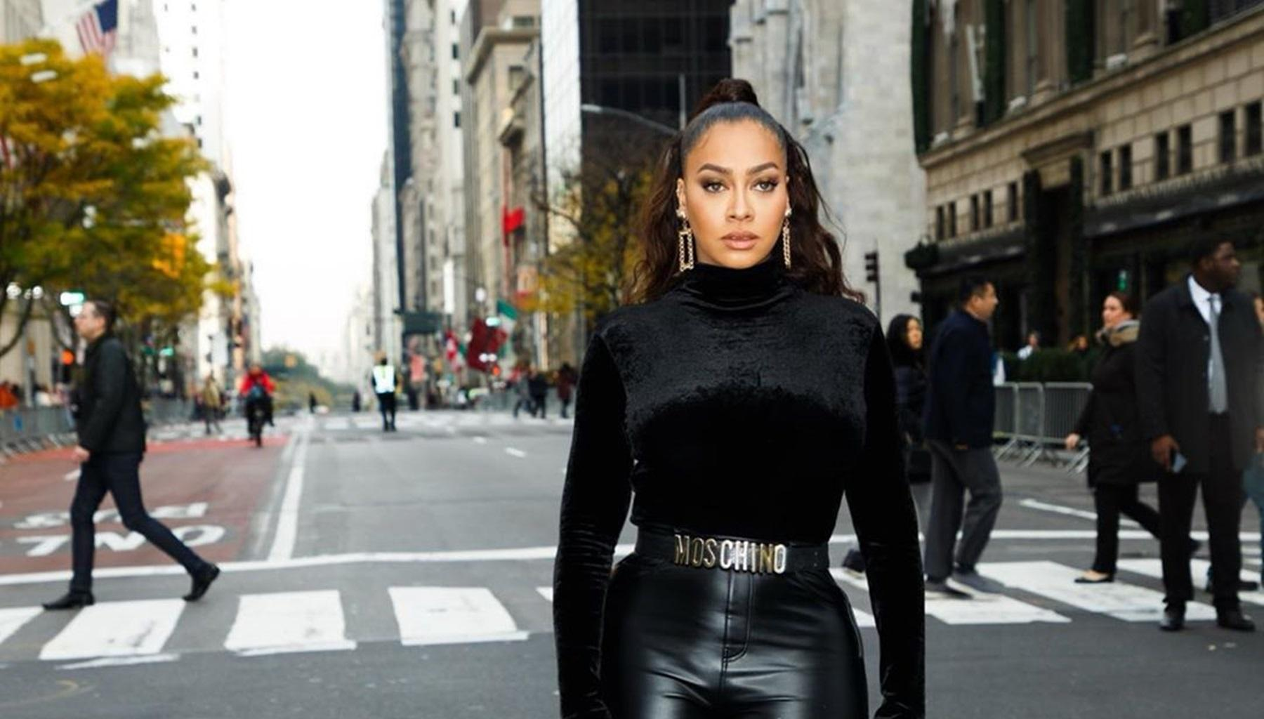 La La Anthony Has Fans Confused After She Shares Photos In Skin-Colored Latex Outfit