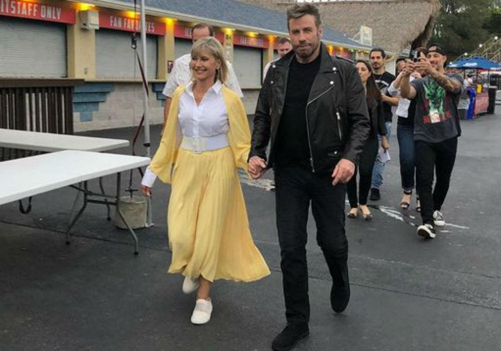 Olivia Newton-John & John Travolta Reunite For Grease Sing-A-Long, Dress Up As Sandy & Danny For The First Time In 40 Years