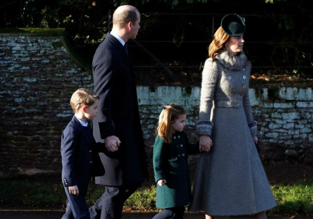 Princess Charlotte & Prince George Steal The Show At The Royal Family's Christmas Celebration In Sandringham
