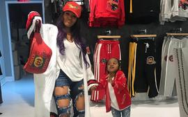 Rasheeda Frost Hangs Out With Her 'Lil Rider' Karter Frost At Her Pressed Boutique