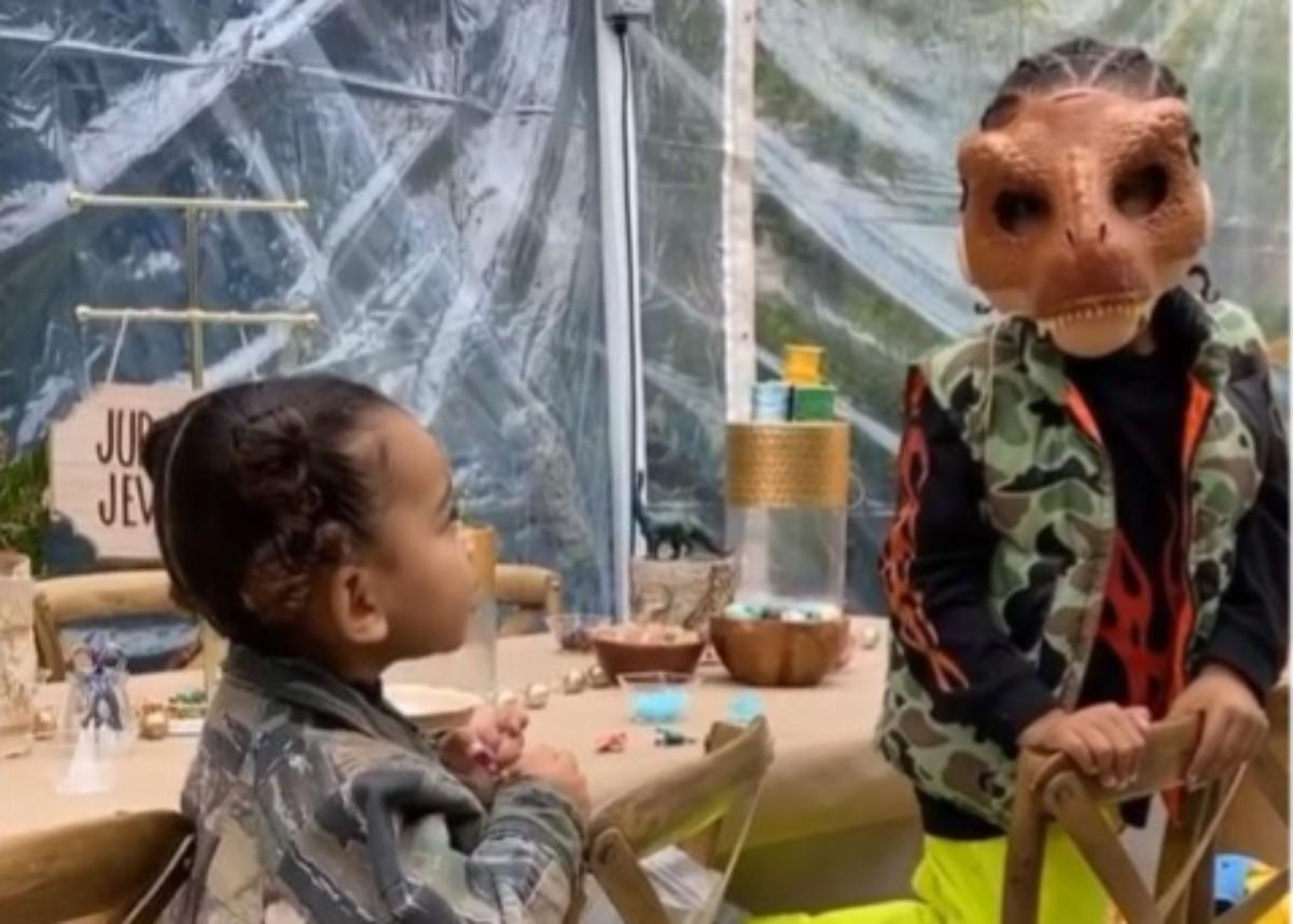 Kim Kardashian Shares More Videos From Saint West's Birthday Party As North Wears A Mini Skims Outfit
