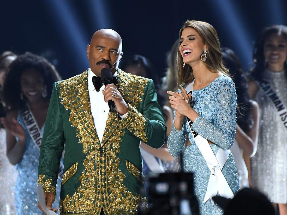 Steve Harvey Drops Offensive Joke About 'The Cartel' To Miss Colombia And Social Media Is Upset!
