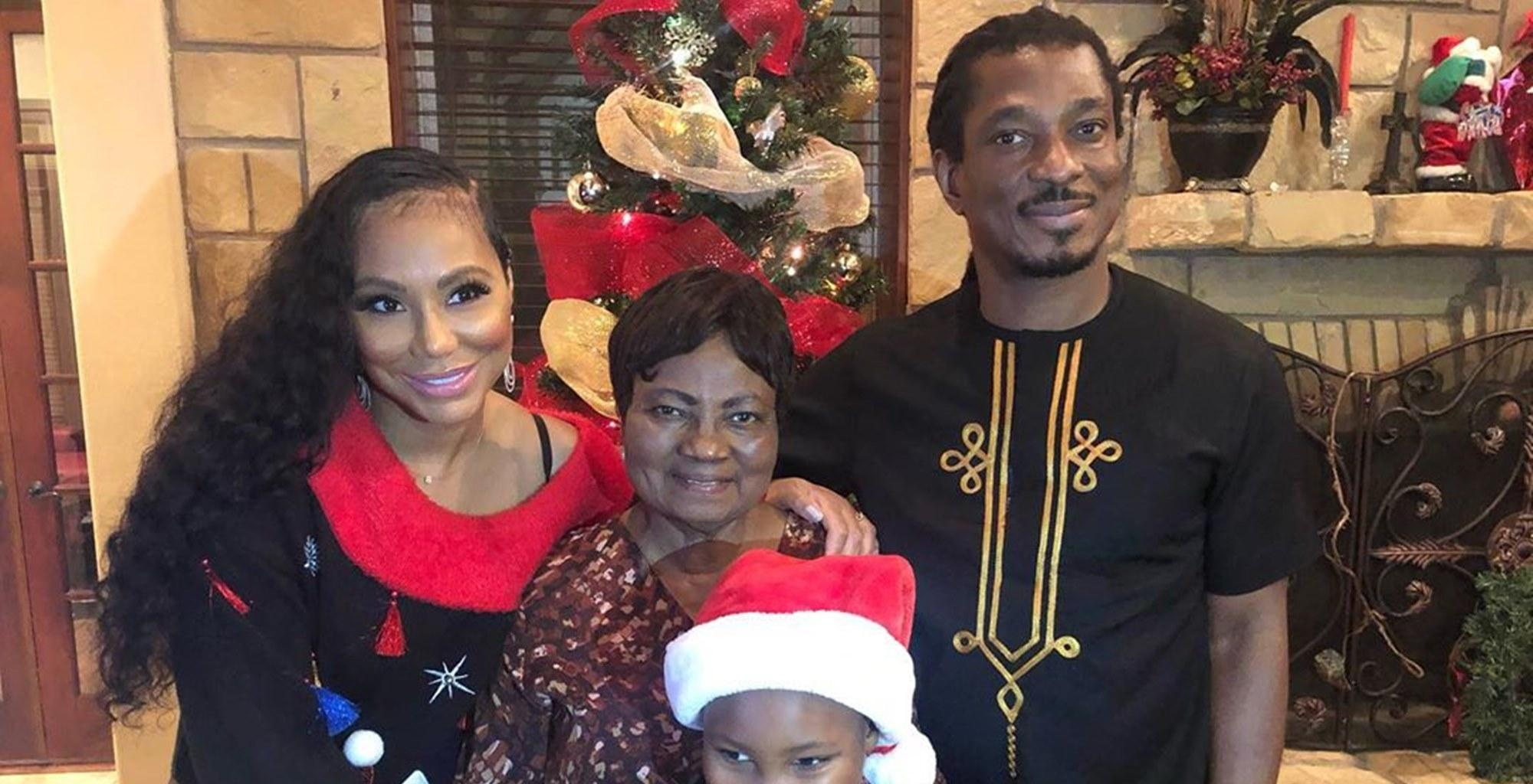 Tamar Braxton Melts Hearts With Video Of Her Son, Logan Herbert, Bonding With BF David Adefeso While Celebrating Christmas With His 80-Year-Old Mother