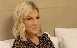 Tori Spelling Claps Back At Haters Who Claim She Used Her Kids To Make Money With Holiday Pics