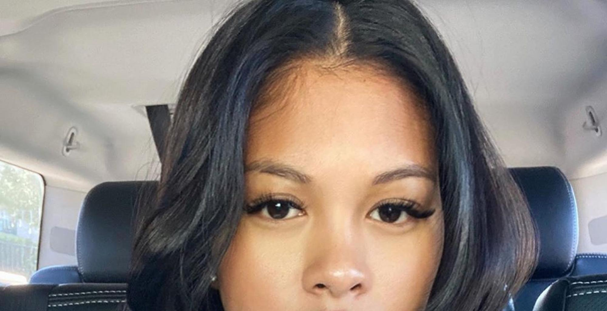 Chris Brown's Baby Mama, Ammika Harris, Flaunts Angel Wings Tattoos In Bathing Suit Photos And Causes Drama Because She Is Giving Aaliyah Vibes