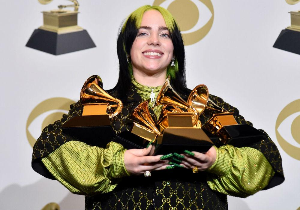 Billie Eilish Is Youngest Musician & First Female Ever To Sweep Top Four Grammy Categories