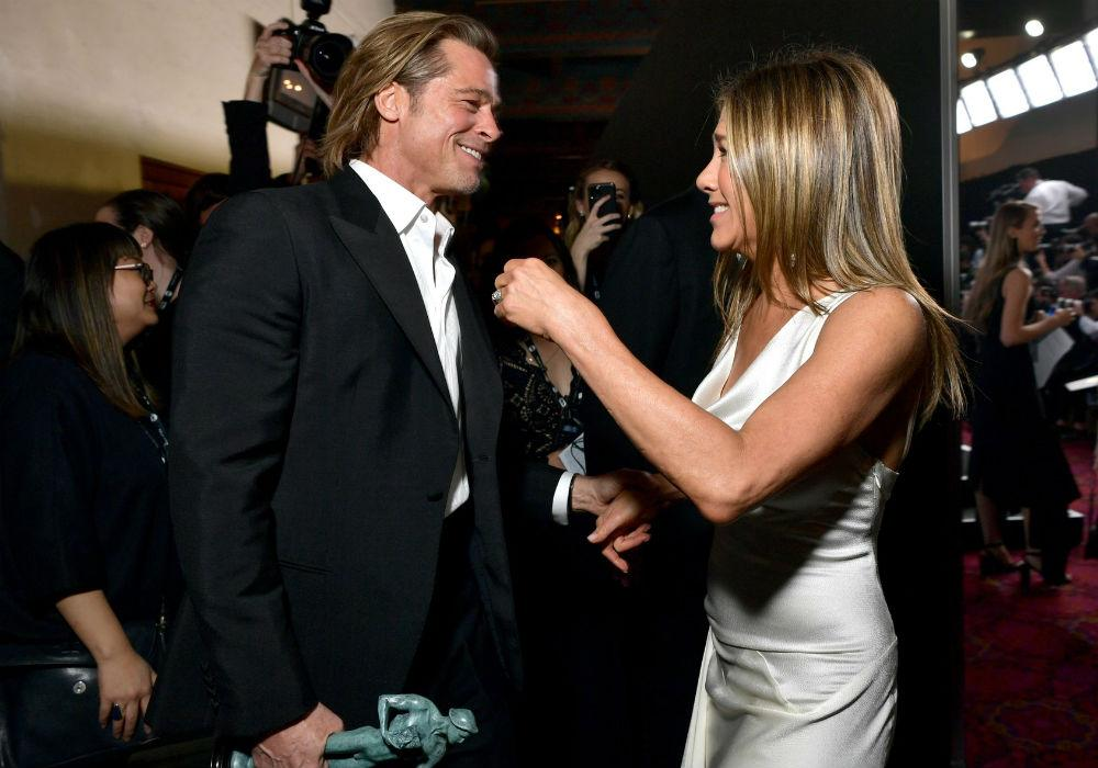 Brad Pitt Says He's 'Blissfully Naive' Of The Fan Reaction To His Moment With Jennifer Aniston At SAG Awards