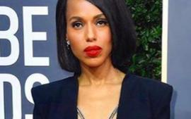 Kerry Washington Sparks Controversy With Revealing Altuzarra Golden Globes Dress