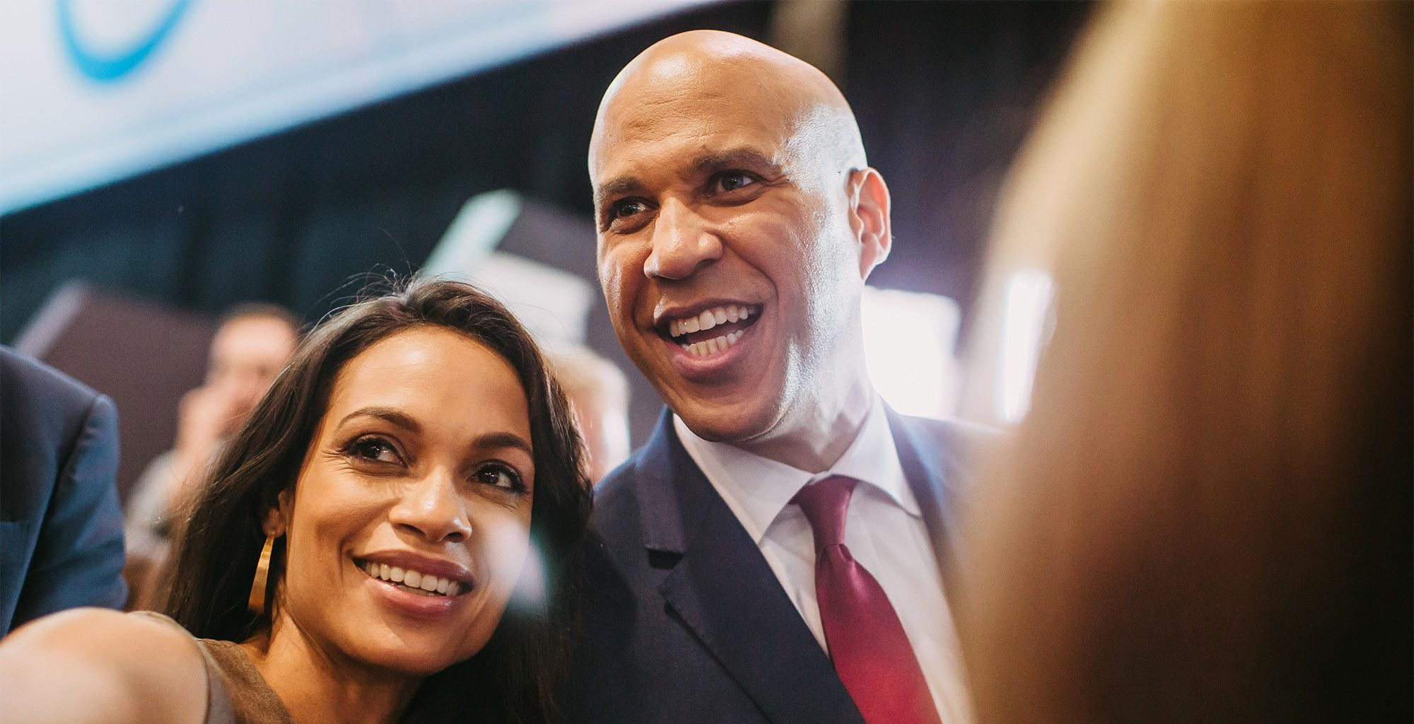 Rosario Dawson's Family Members Like Her Boyfriend, Cory Booker 'A Lot' Source Says
