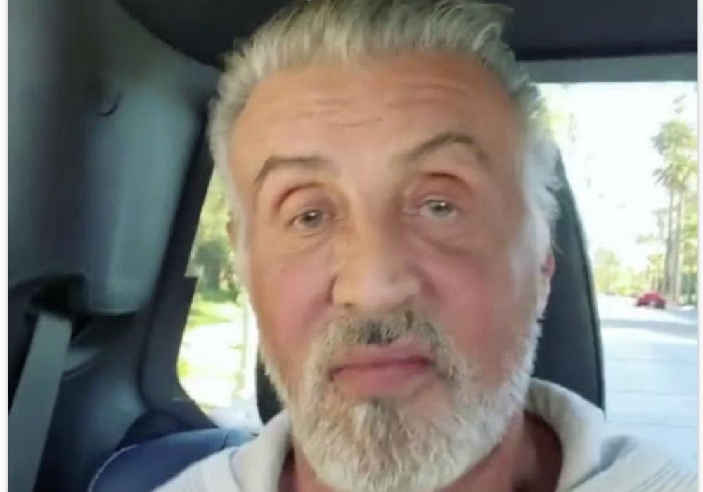 Sylvester Stallone Ditches His Trademark Black Hair Dye And Debuts All-Gray Natural Look