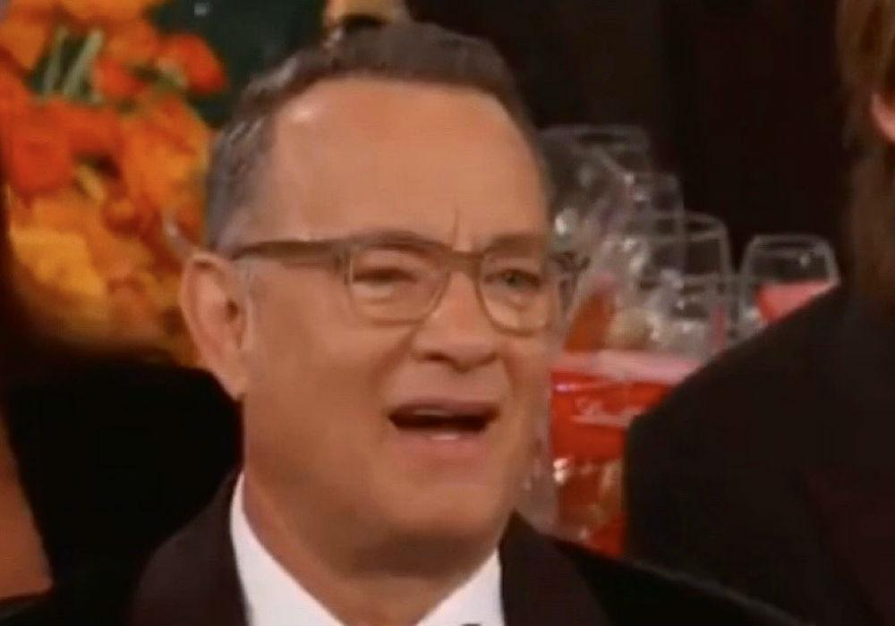 Tom Hanks' Reaction To Ricky Gervais' Golden Globes Opening Monologue Goes Viral