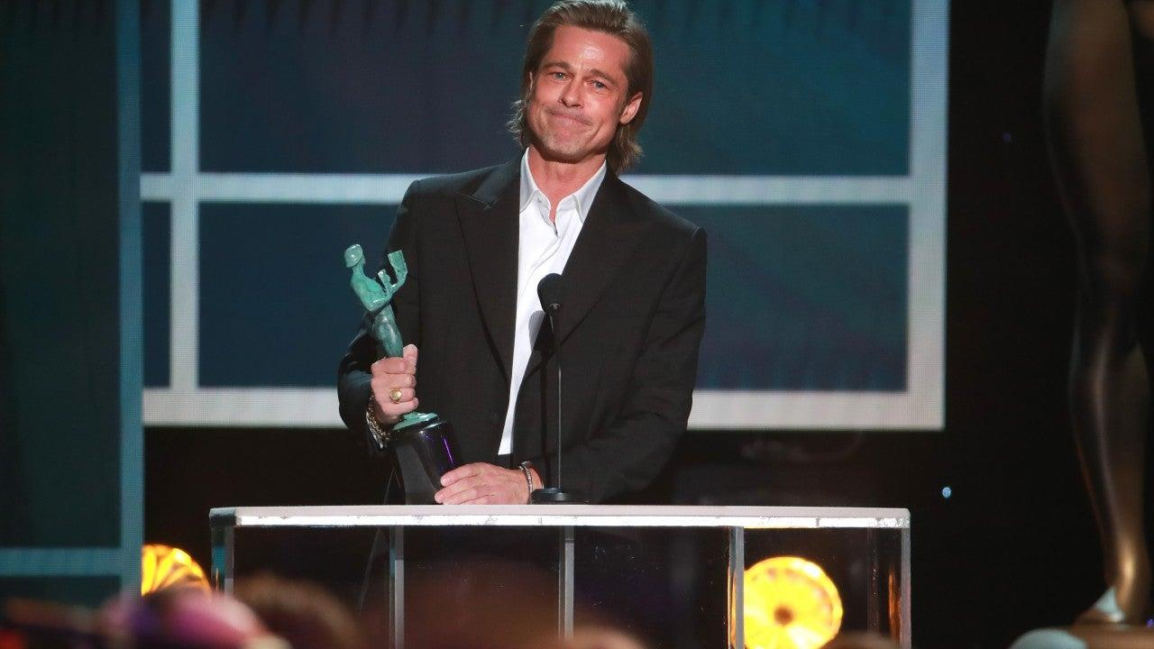 Brad Pitt Makes Fun Of Himself, Teases Quentin Tarantino And More In Funny And Heartwarming SAG Awards Acceptance Speech
