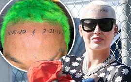 Amber Rose's BF, Alexander 'AE' Edwards Also Tattoos Their Kids On His Forehead