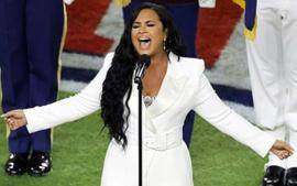 Demi Lovato Delivers Flawless National Anthem At The Super Bowl — Wears Sergio Hudson