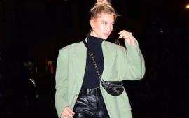 Hailey Bieber Stuns In Martine Rose Wool Coat And Alexander Wang Boots