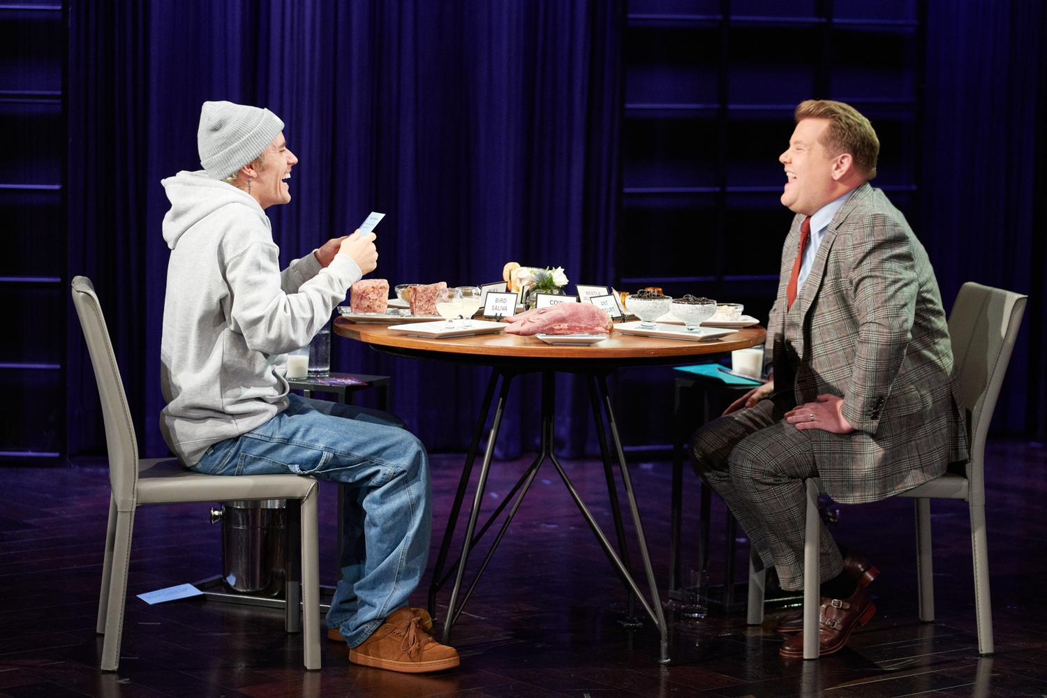 Justin Bieber Asks James Corden If He Regretted Doing Cats